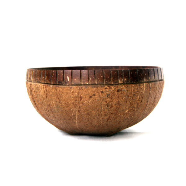 Artisan-crafted all-natural coconut bowl