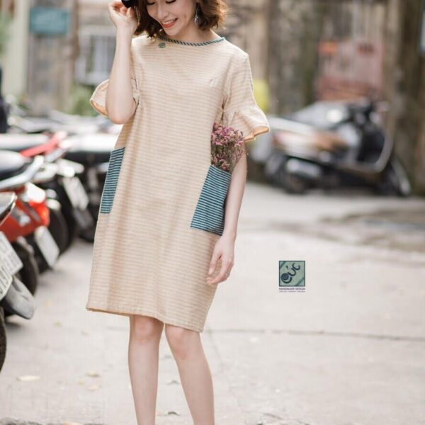 Handwoven cotton designer dress